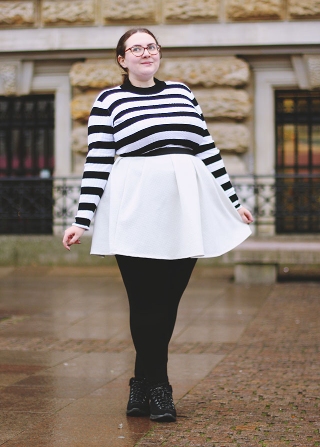 Plus size horizontal stripes