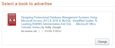 screenshot 1: select an ebook for the ad