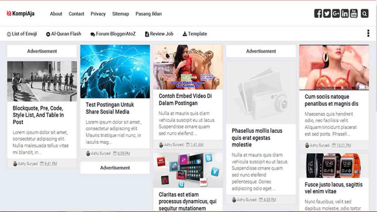 Kompi Ajaib Premium Blogger Template