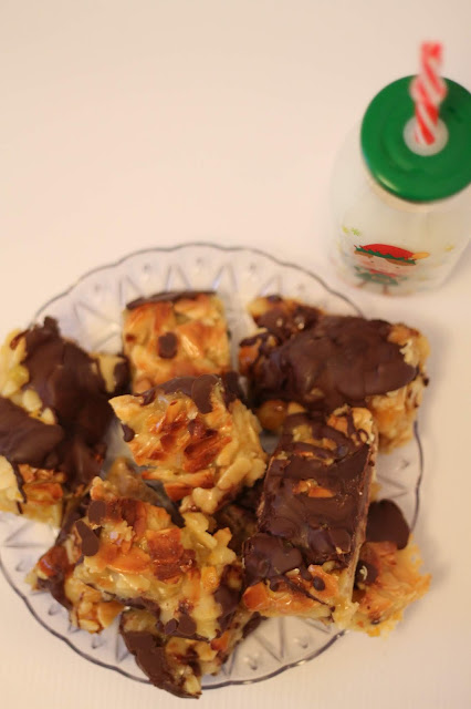 Chocolate Florentine shortbreads