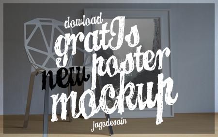 Download 20 Poster Mockup Terbaru Gratis