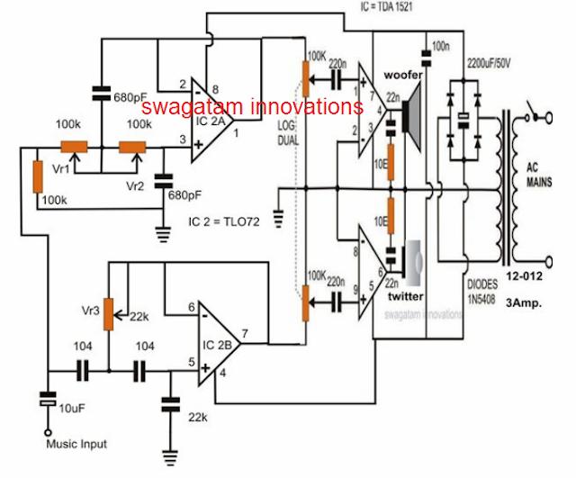 Active loudspeaker circuit