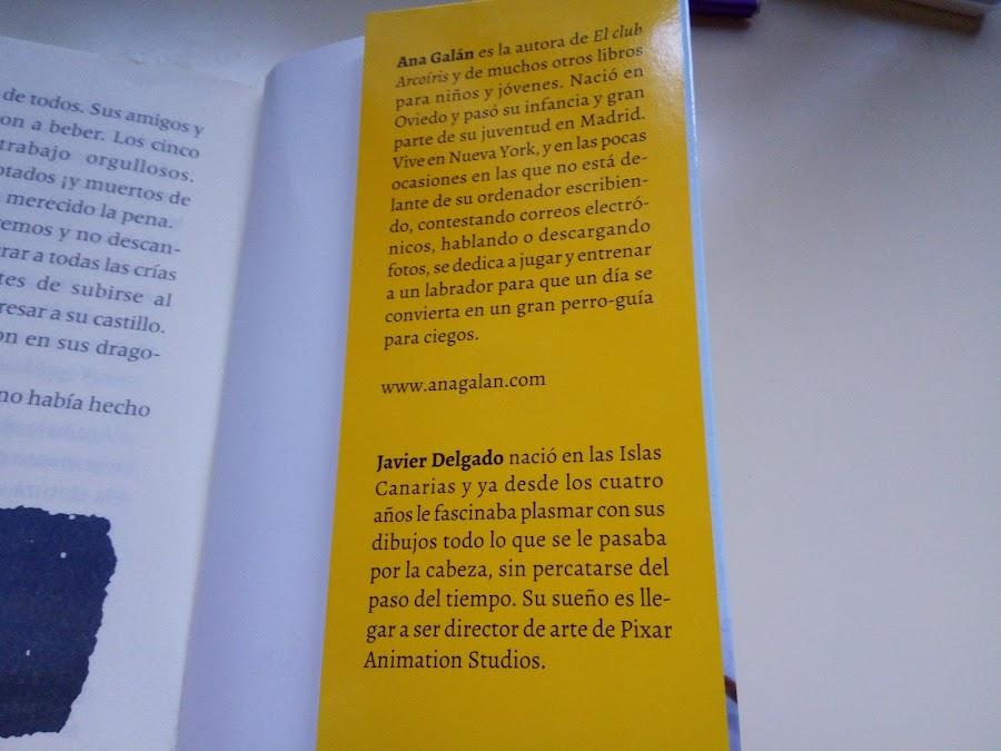 Autora Ana Galán e ilustrador Javier Delgado