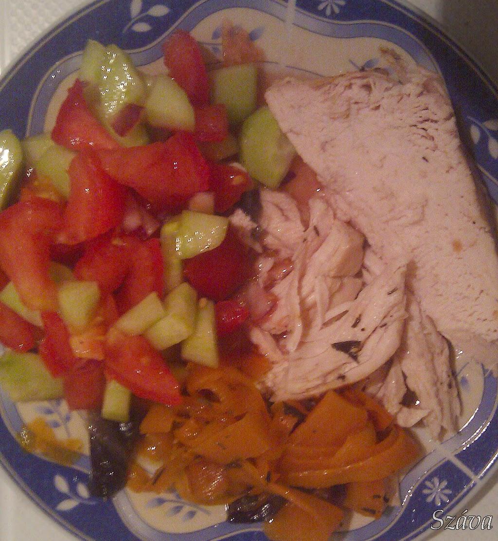 Száva blogja: Sült csirke répával és salátával