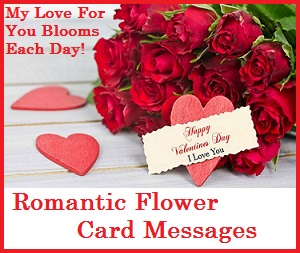 Sample Messages And Wishes Romantic Flower Card Messages