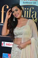 Prajna Actress in backless Cream Choli and transparent saree at IIFA Utsavam Awards 2017 0008.JPG