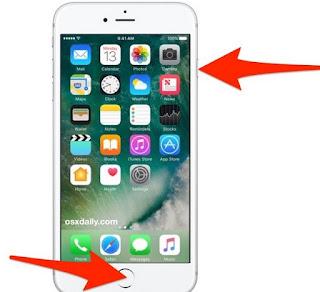 Tasti Screenshot iPhone 7