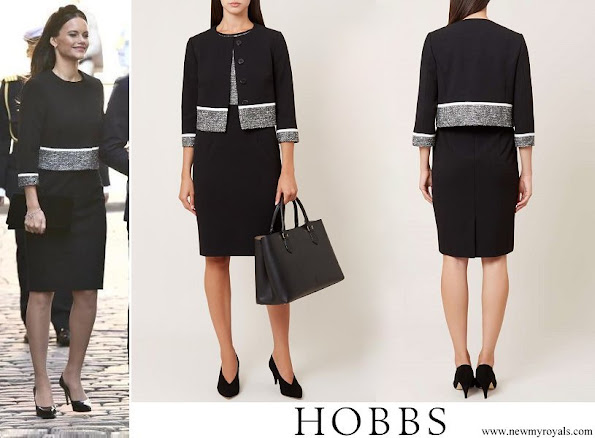 Princess Sofia wore Hobbs Black Robyn Jacket and skirt
