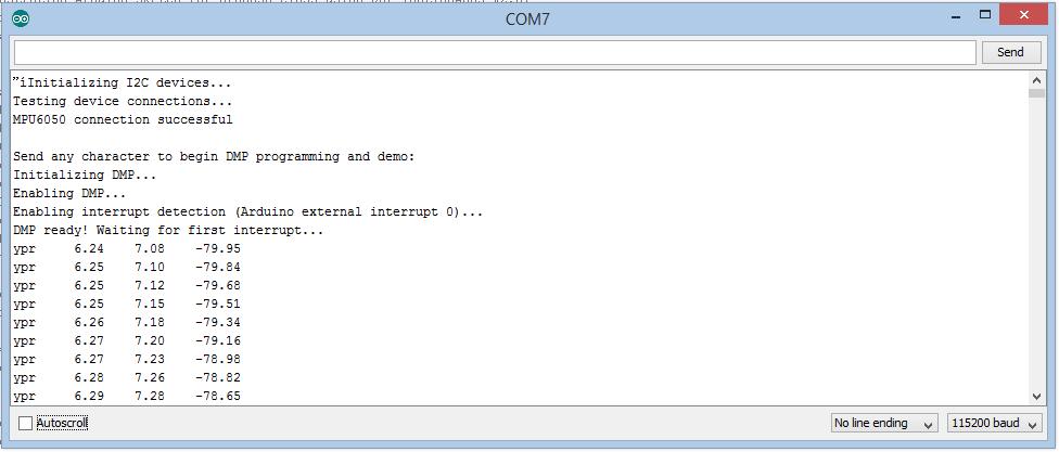 Dummy's Codes: MPU6050 (GY-521 Breakout) + Arduino Mega 2560