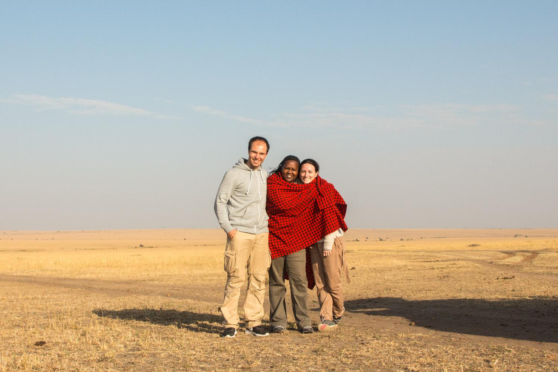Junto a nuestra guía Colleta, con la que hicimos una gran amistad