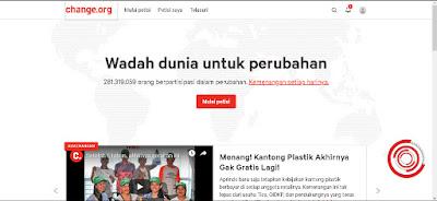 Kemudian klik Mulai Petisi