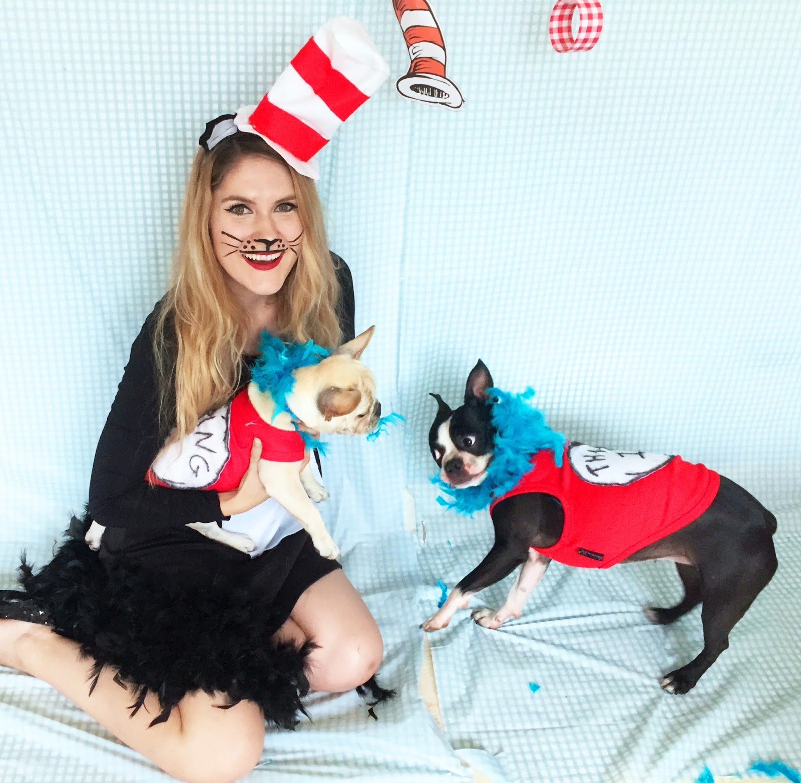 Cute Homemade Cat in the Hat Costume. Click through for full tutorial!