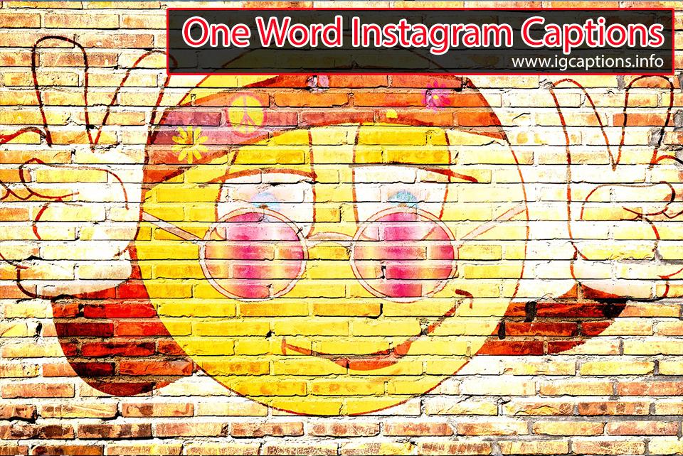 single word caption for instagram