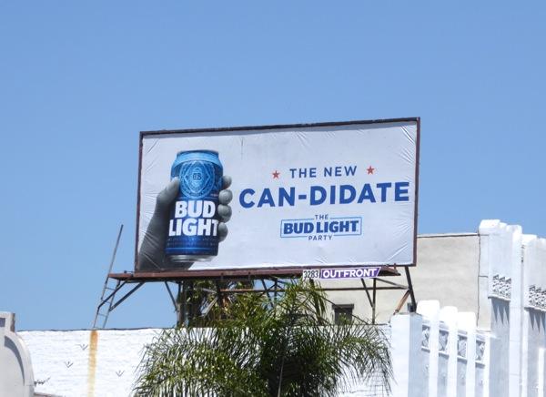 new candidate Bud Light billboard