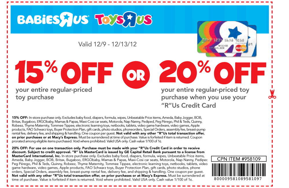picture relating to Babies R Us 20 Off Coupon Printable called Infants r us printable coupon blogspot - Childrens offers