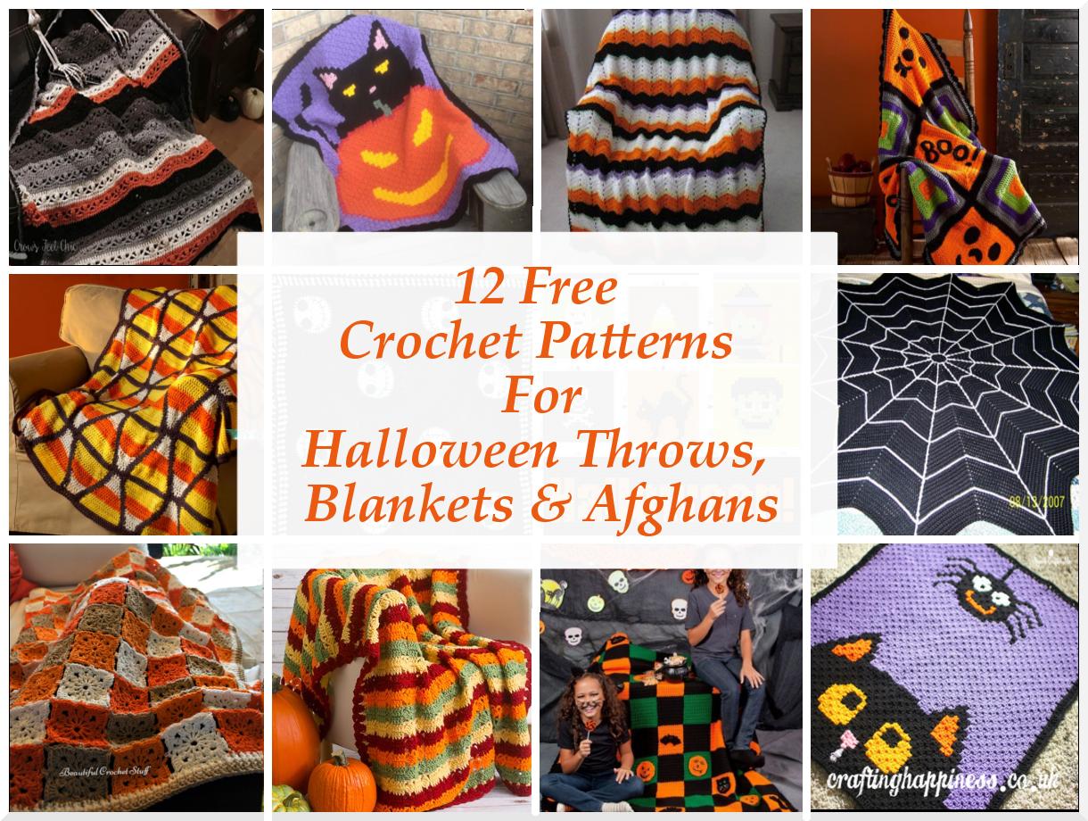 12 Free Crochet Halloween Throws, Blankets & Afghans Patterns ...