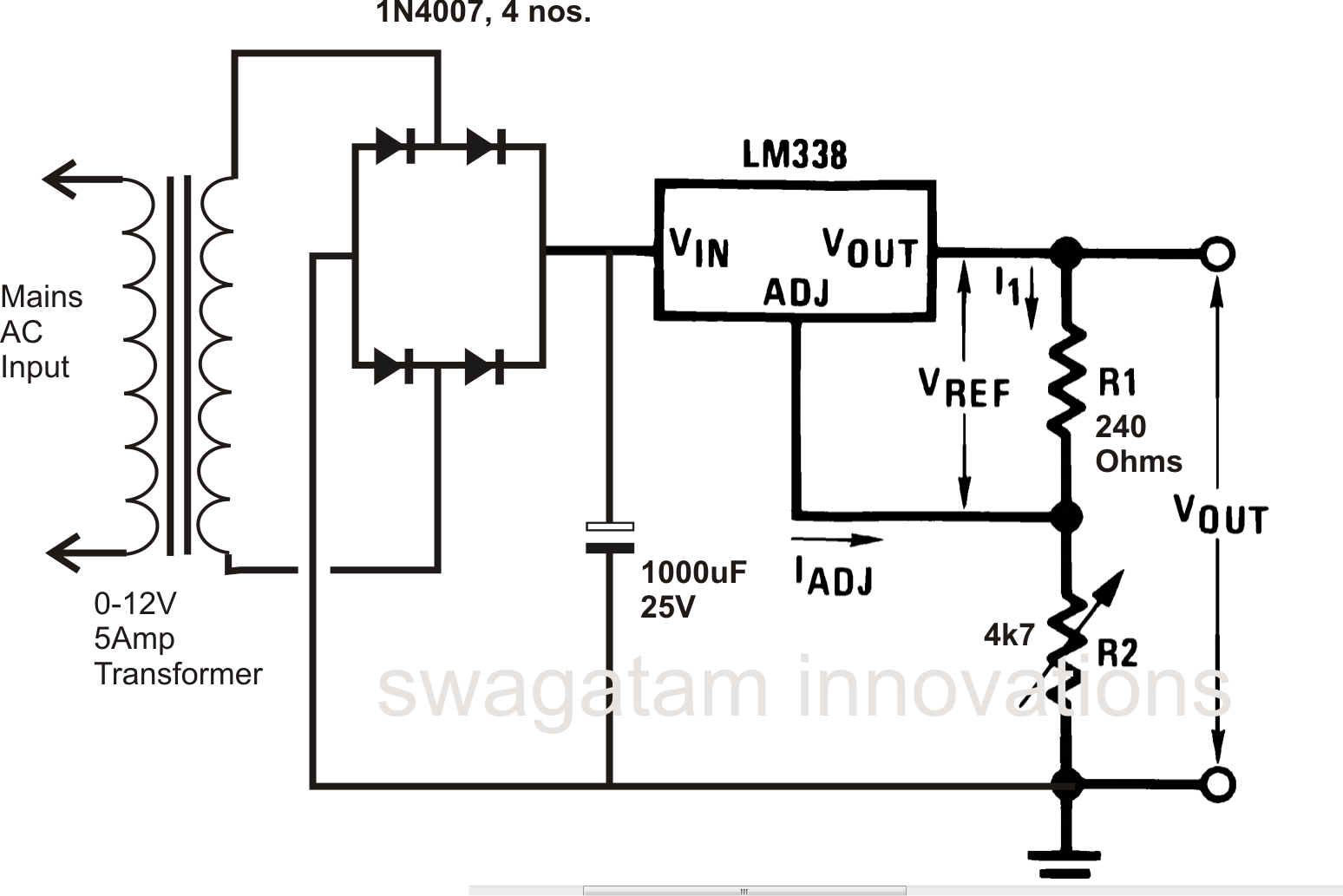 Switch 12v 1amp Power Supply Schematic