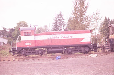Oregon Pacific SW8 #803 in Liberal, Oregon, in September, 1998