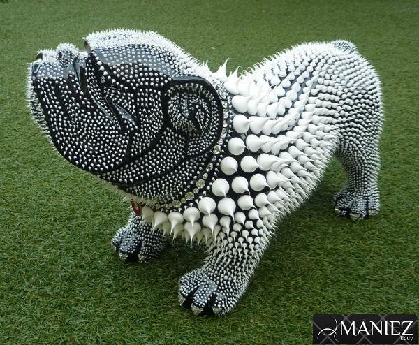 Mini BOULE Silicone DOGUE de MANIEZ Eddy polyresine
