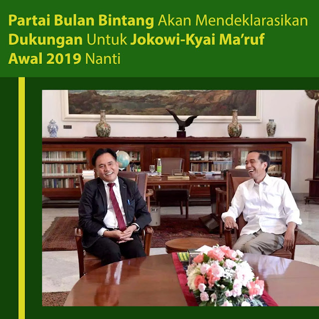 Partai Bulan Bintang Akan Mendeklarasikan Dukungan Untuk Jokowi