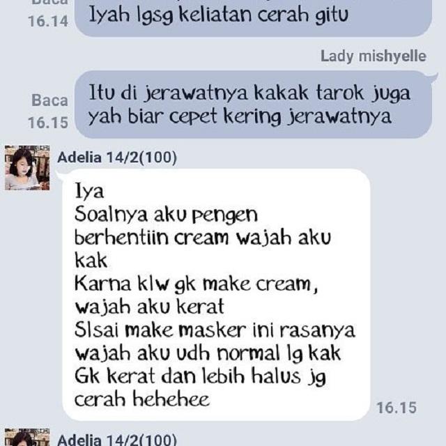 Wajah Halus & Cerah serta Bebas Cream Wajah - Review Masker Spirulina