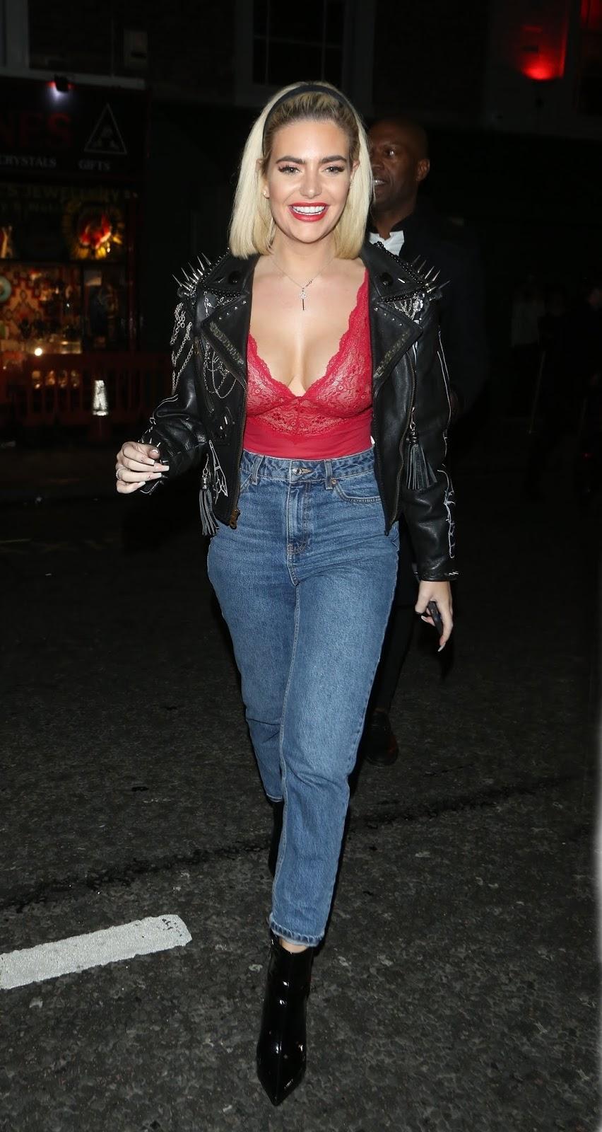 Megan Barton Hanson seen leaving Raffles nightclu in London - 02/08/2019