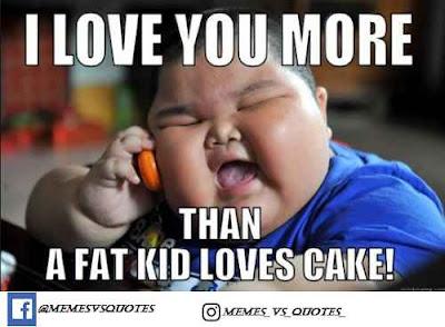 Fat kid love cake