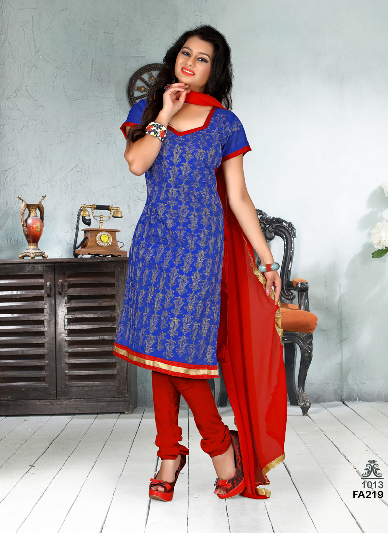 Pretty Lady 7 –  Chanderi Dress Material In Low Rate