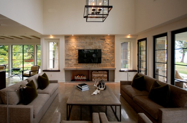 rock wall living room ideas 25 gorgeous living rooms with walls decor units 19763