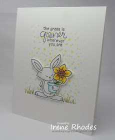 The grass is greener wherever you are by Irene features Garden Whimsy by Newton's Nook Designs; #newtonsnook
