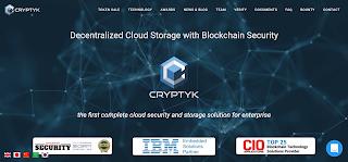 منصة Cryptyk للتخزين السحابي بإعتماد البلوكشين