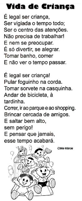 Texto - VIDA DE CRIANÇA, de Clélia Márcia