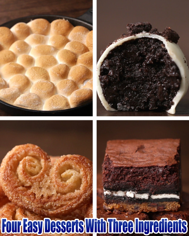 Four Easy Desserts With Three Ingredients