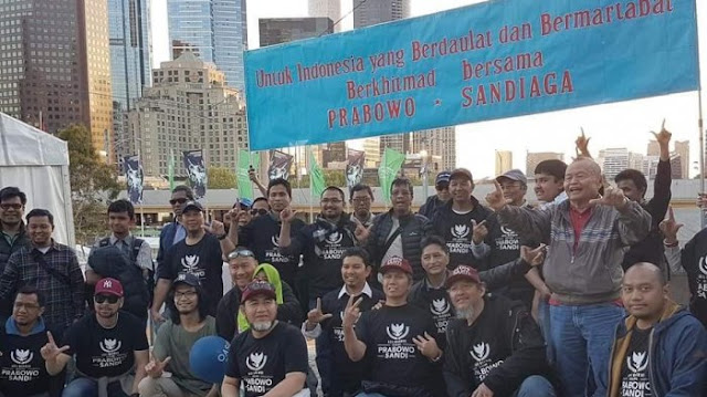 Ratusan WNI di Melbourne Deklarasi Menangkan Prabowo-Sandi