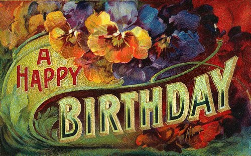 Expresh Letters Blog: Vintage Happy Birthday Cards