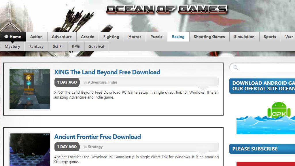 موقع Ocean of Games لتحميل العاب الكمبيوتر الكاملة مجانا