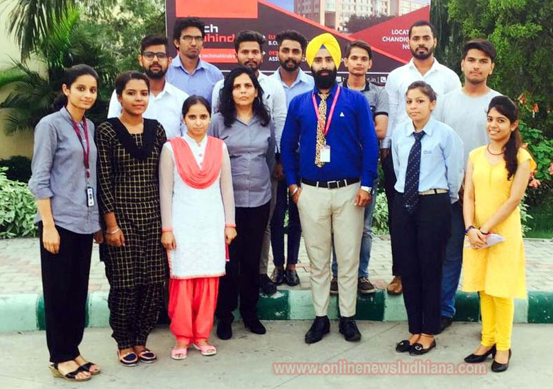 Selected students with Executive Director of Gulzar Group of Institutes Gurkirat Singh