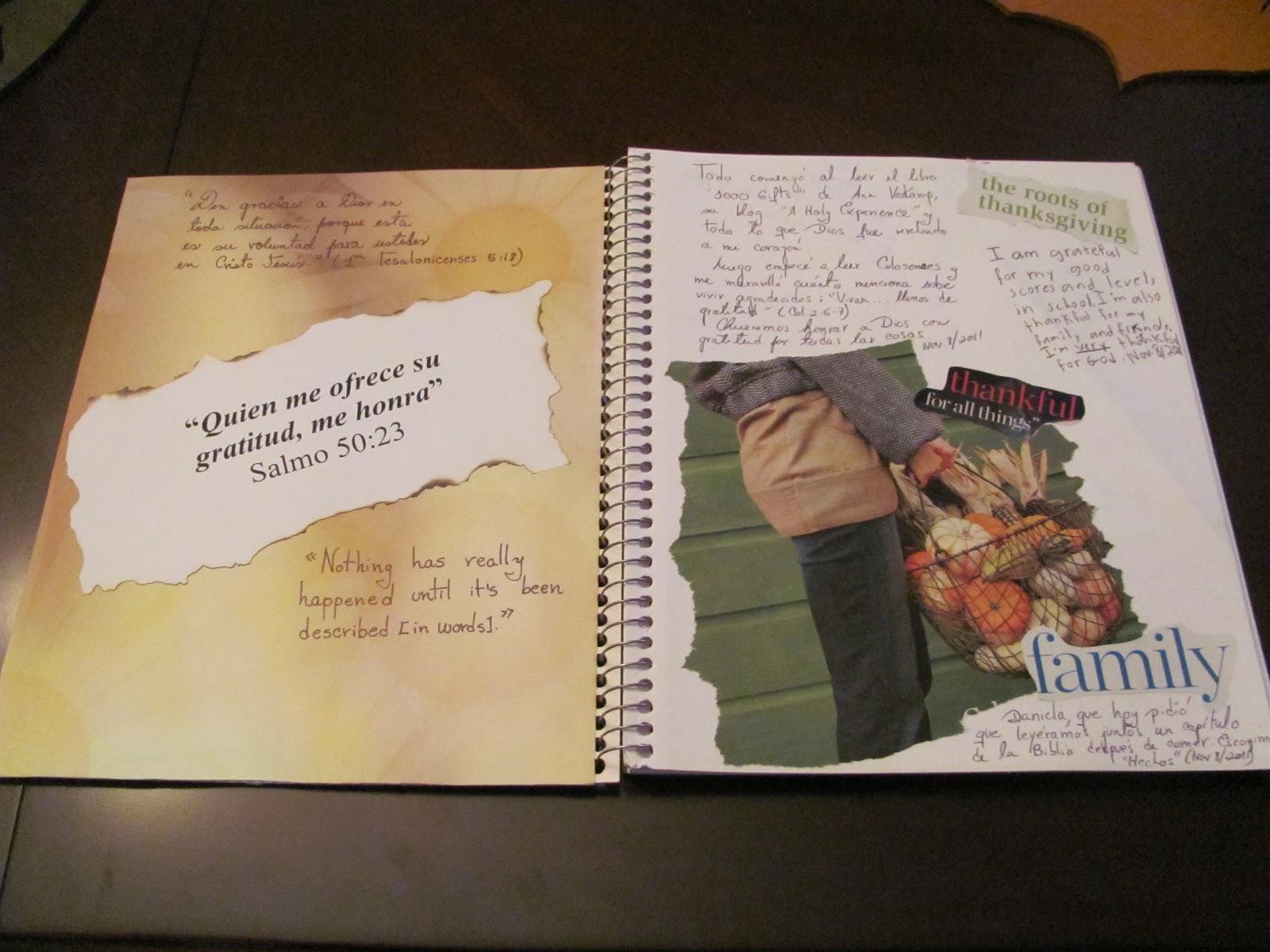 El diario de gratitud