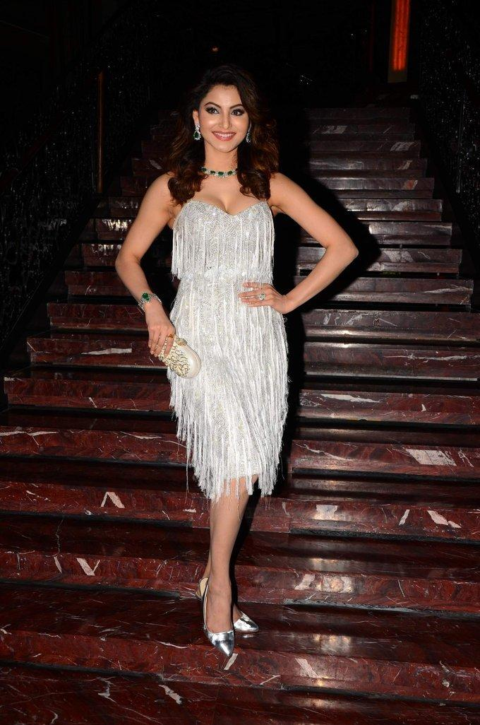 Urvashi Rautela Stills at Her 23rd Birthday Celebrations In Mumbai