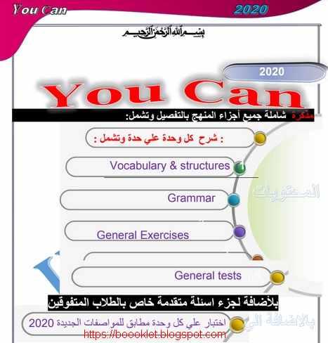 الوحدة الاولى لغة انجليزية للصف الأول الاعدادى الترم الأول 2020 من مذكرة Yoy Can