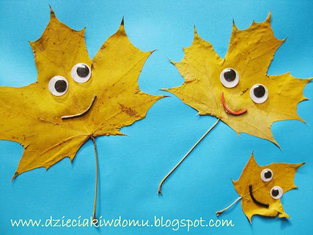 Jesienne Stworki i Potworki z liści