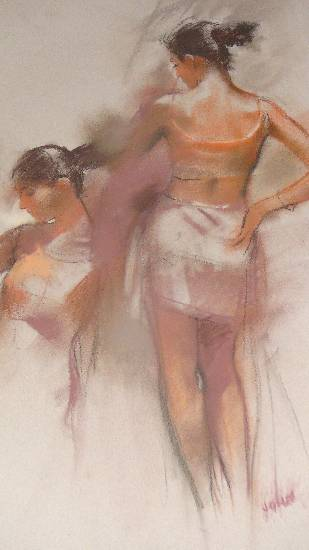Twins, painting by John Fernandes at Indiaart Gallery (www.indiaart.com)