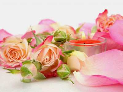 pink-roses-with-kandle-light-image