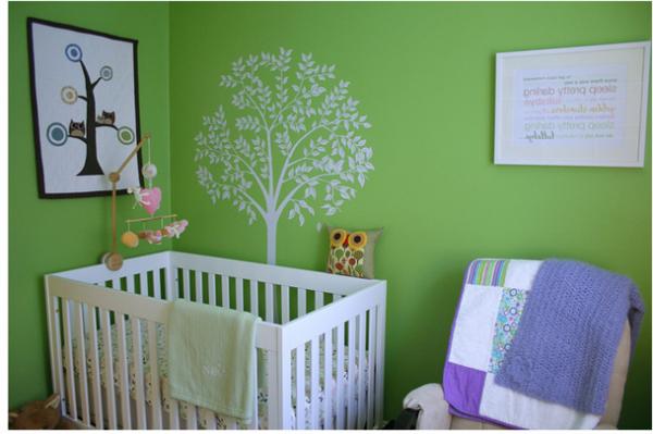 Cuartos de beb en color verde  Ideas para decorar