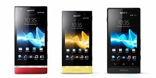 Spesifikasi dan Harga Smartphone Sony Xperia Sola, P dan Xperia U