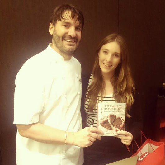 Eric Lanlard and food blogger Catherine from Lux Life blog