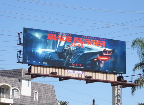 Ryan Gosling Blade Runner 2049 billboard