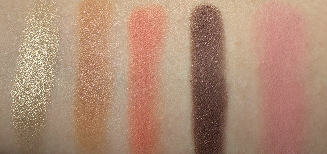 Colourpop super shock shadows in get lucky, shop, mooning, to-a-t and Blusher in Between The Sheets review and swatch