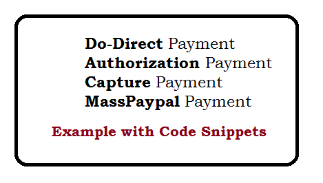 Paypal Sandbox do-Directpayment, Authorization, Capture and Mass-payment
