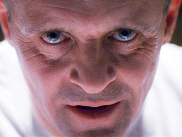 hannibal lecter, stare, fijeza, mirar, canibal, cine, Anthony Hopkins